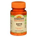 Biotin 7500 mcg Dietary Supplement Tablets