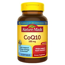 Nature Made CoQ10 100 mg Dietary Supplement Liquid Softgels