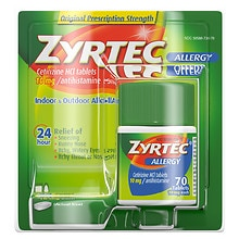 Zyrtec Allergy Tablets, 10 mg