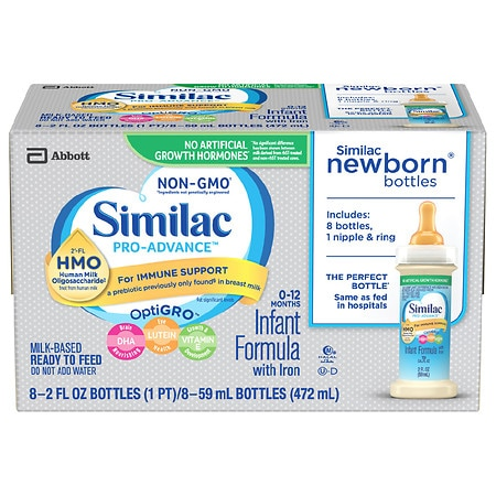 Similac Advance Complete Nutrition, Infant Formula with Iron, Ready to Feed 2 fl oz Bottles