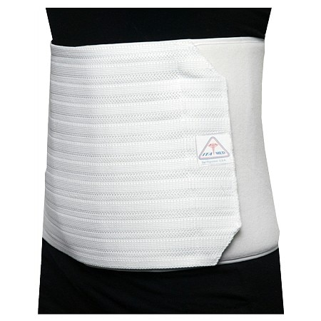 ITA-MED Women's Breathable Elastic Abdominal Binder, 12 Inch White