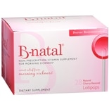 B-natal Cherry-Flavored Non-Prescription Vitamin Supplement For Morning Sickness TheraPo