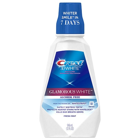 Crest 3D White Luxe Glamorous White Multi-Care Whitening Mouthwash Fresh Mint