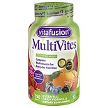 Vitafusion MultiVites, Adult Vitamins, Gummies Natural Berry, Peach & Orange