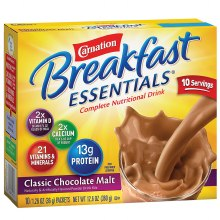 Instant Breakfast Essentials Complete Nutritional Drink Mix Classic Chocolate Malt