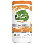 Seventh Generation Disinfecting Wipes Lemongrass Citrus Scent