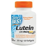 Doctor's Best Best Free Lutein Featuring FloraGlo, 20mg, Softgels