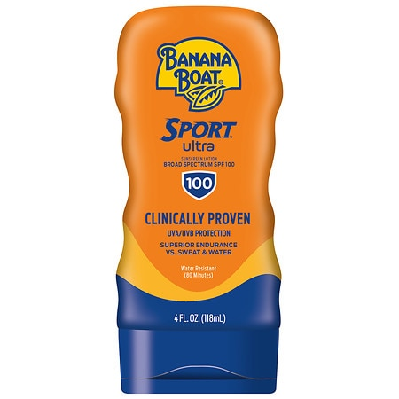 Banana Boat Sport Performance Broad Spectrum Sunscreen Lotion, SPF 100