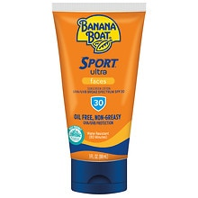 Banana Boat Sport Performance Broad Spectrum Faces Sunscreen Lotion, SPF 30
