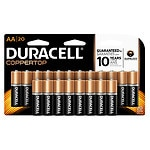 Save up to 20% on select Duracell batteries.