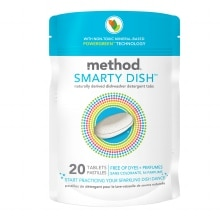 method Smarty Dish Non-toxic Dishwasher Detergent Tabs Free of Dyes + Perfumes