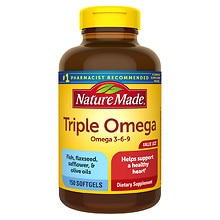 Nature Made Triple Omega Liquid Softgels Dietary Supplement