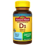 Nature Made Vitamin D3 5000 IU Dietary Supplement Liquid Softgels