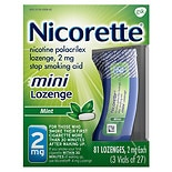 Nicorette Stop Smoking Aid Mini Lozenges 2 mg Mint Mint