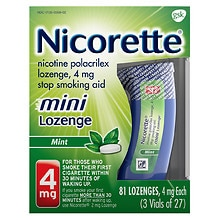 Nicotine Polacrilex Mini Lozenge, 4mg Mint, Mint