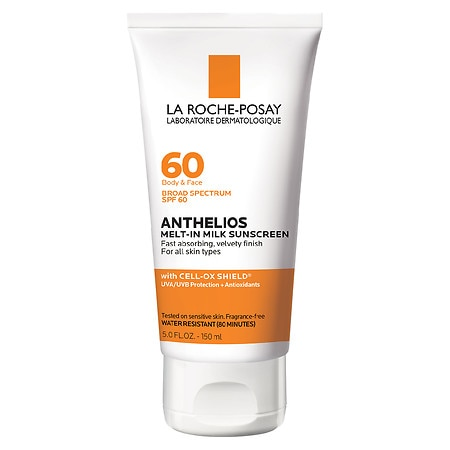 La Roche-Posay Anthelios 60 Melt-In Sunscreen Milk, SPF 60, Face & Body, For all skin types