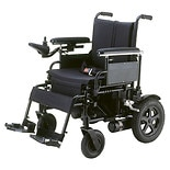 Cirrus Plus EC Folding Power Wheelchair with Footrest and Batteries 18 inch