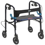 Drive Medical Clever Lite Rollator Walker 8 Inch Casters Flame Blue