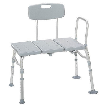 Drive Medical Plastic Transfer Bench w Adjustable Backrest