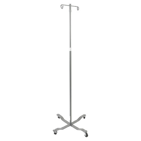 Drive Medical Economy Removable Top I. V. Pole 2 Hook Chrome