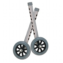 Drive Medical Walker Wheels with Two Sets of Rear Glides for Use with Universal Walker 5 inch Silver