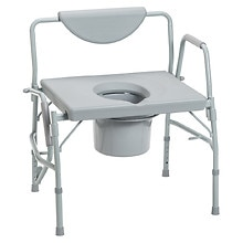 Drive Medical Oversized Heavy Duty Bariatric Drop Arm Commode