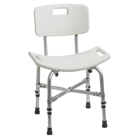 Drive Medical Heavy Duty Bariatric Curved Bath Bench with Back