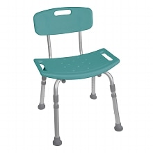 Drive Medical Designer Series Deluxe Bath Bench with Back Teal