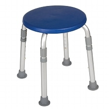 Designer Series Adjustable Height Bath Stool - Blue, Blue