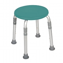 Drive Medical Designer Series Adjustable Height Bath Stool Teal