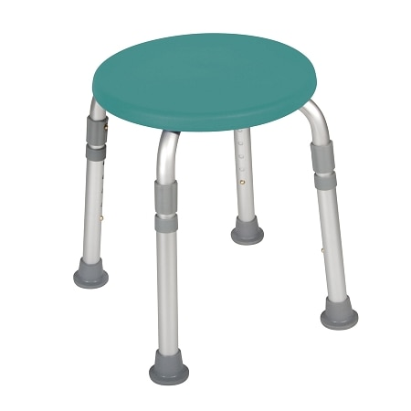 Drive Medical Adjustable Height Bath Stool Teal