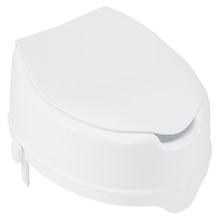 12065 Raised Toilet Seat with Lid, 4-inch White