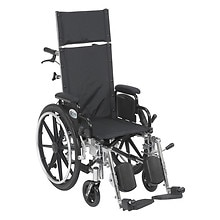 Drive Medical Viper Plus Lightweight Reclining Wheelchair w Leg rest and Flip Back Desk Arms 14 Inch