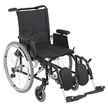 Drive Medical Cougar Ultra Lightweight Wheelchair w Detachable Adj Desk Arms and Leg Rest 18 inch