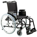 Drive Medical Cougar Ultra Lightweight Wheelchair w Detachable Adj Desk Arms and Foot Rest 18 Inch