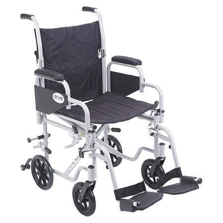 "Drive Medical Poly-Fly High Strength Lightweight Wheelchair / Transport Chair 18"" 18 Inch"