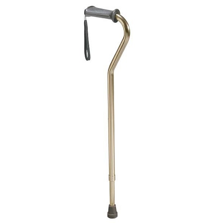Drive Medical Rehab Ortho K Grip Offset Handle Cane with Wrist Strap