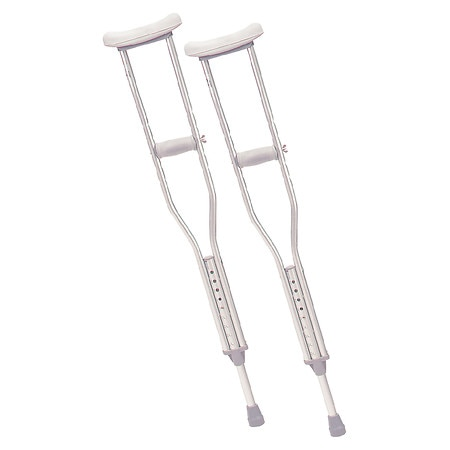 Drive Medical Walking Crutches with Underarm Pad and Handgrip Youth