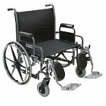 Sentra Heavy Duty Wheelchair Detachable Desk Arms 30 Inch Silver Vein