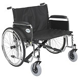 Drive Medical Sentra EC Heavy Duty Extra Wide Wheelchair with Detachable Full Arms 30 inch