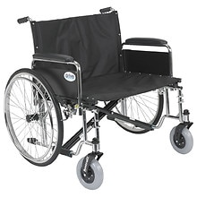 Sentra EC Heavy Duty Extra Wide Wheelchair, Detachable Full Arms 30 inch