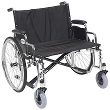Sentra EC Heavy Duty Extra Wide Wheelchair, Detachable Desk Arms 28 inch