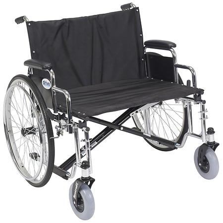 Drive Medical Sentra EC Heavy Duty Extra Wide Wheelchair with Detachable Desk Arms 28 inch