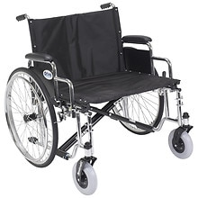 Drive Medical Sentra EC Heavy Duty Extra Wide Wheelchair with Detachable Desk Arms 26 inch