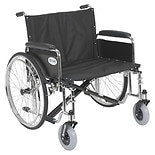 Sentra EC Heavy Duty Extra Wide Wheelchair, Detachable Full Arms 26 inch