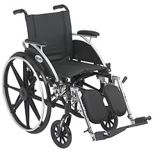 Drive Medical Viper Wheelchair with Flip Back Removable Desk Arms and Elevating Leg Rest 12 Inch