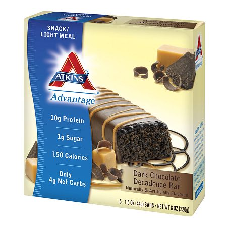 Atkins Advantage Snack Bars Dark Chocolate Decadence, 5 pk