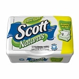 Scott Naturals Flushable Wipes, Tub