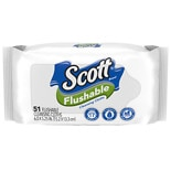 Scott Naturals Naturals Flushable Wipes, Refill