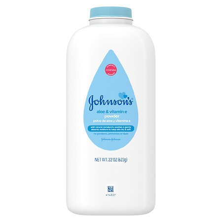 Johnson's Baby Pure Cornstarch Powder Aloe Vera & Vitamin E